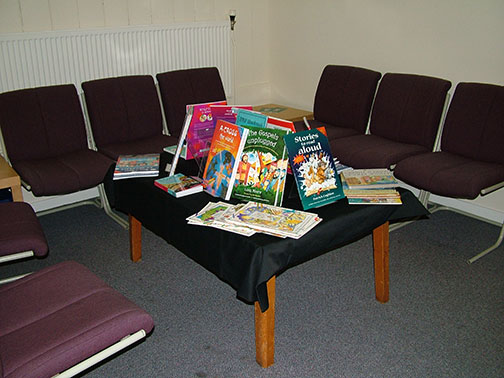 Waiting area for visitors and teachers