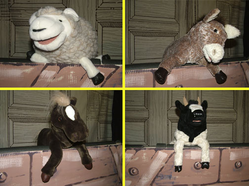 The animal puppets